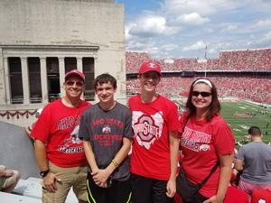 Jamie Sanders attended Ohio State Buckeyes vs. Oregon State - NCAA Football on Sep 1st 2018 via VetTix