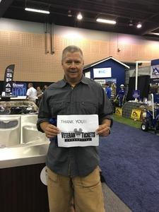 Michael attended Fall Atlanta Home Show & Outdoor Living Expo 2018 - *See Special Instructions on Sep 7th 2018 via VetTix