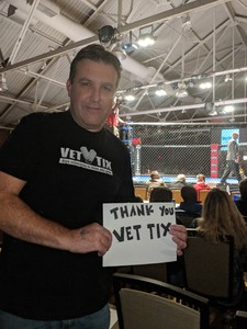 Joseph attended Combat Zone 67 - Live Mixed Martial Arts on Sep 21st 2018 via VetTix