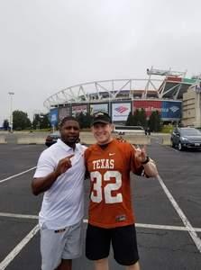 Stephen attended Texas Longhorns vs. Maryland Terrapins - NCAA Football on Sep 1st 2018 via VetTix