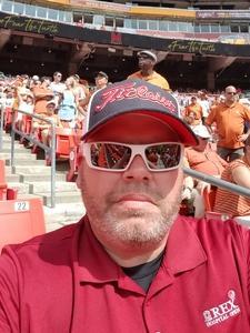 Kenneth attended Texas Longhorns vs. Maryland Terrapins - NCAA Football on Sep 1st 2018 via VetTix