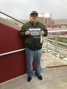 Jeffrey attended Indiana Hoosiers vs Virginia Cavaliers - NCAA Football on Sep 8th 2018 via VetTix