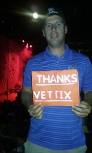 Daren attended Sugarland - Country on Sep 8th 2018 via VetTix