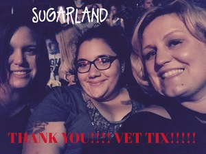 Ashley attended Sugarland - Country on Sep 8th 2018 via VetTix