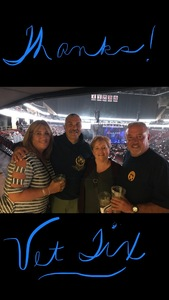 Kathleen attended Sugarland - Country on Sep 8th 2018 via VetTix