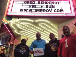 Click To Read More Feedback from San Jose Improv - Greg Behrendt
