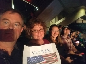 William attended Sugarland - Country on Sep 7th 2018 via VetTix
