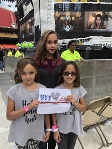 Darby attended Taylor Swift Reputation Stadium Tour - Pop on Sep 8th 2018 via VetTix