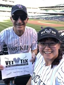 Sherry and John attended Colorado Rockies vs. Arizona Diamondbacks - MLB on Sep 12th 2018 via VetTix
