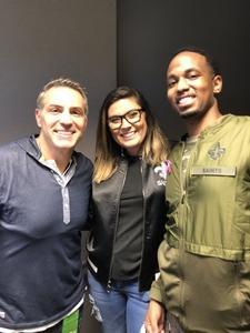 Carr attended New Orleans Saints vs. Washington Redskins - NFL - Kurt Warner Meet and Greet on Oct 8th 2018 via VetTix