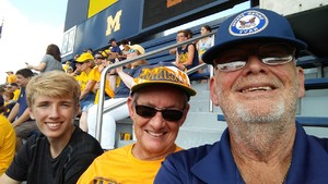 Christopher attended University of Michigan Wolverines vs. SMU Mustangs - NCAA Football on Sep 15th 2018 via VetTix