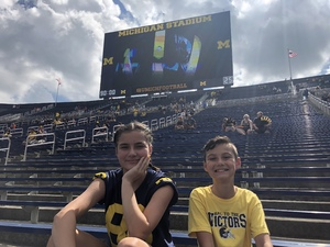 Gloria attended University of Michigan Wolverines vs. SMU Mustangs - NCAA Football on Sep 15th 2018 via VetTix
