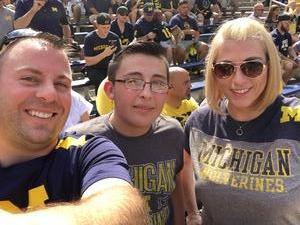 Joel attended University of Michigan Wolverines vs. SMU Mustangs - NCAA Football on Sep 15th 2018 via VetTix