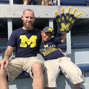 Darin attended University of Michigan Wolverines vs. SMU Mustangs - NCAA Football on Sep 15th 2018 via VetTix