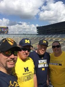 Ryan attended University of Michigan Wolverines vs. SMU Mustangs - NCAA Football on Sep 15th 2018 via VetTix