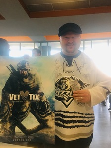 Jeromy attended Utah Grizzlies vs. Rapid City - ECHL - Home Opener - Regular Tickets on Oct 12th 2018 via VetTix