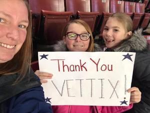 Caren attended Utah Grizzlies vs. Wichita Thunder - ECHL - Regular Tickets on Jan 5th 2019 via VetTix