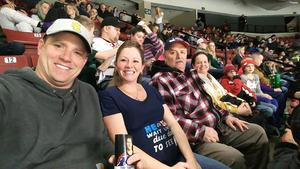 kevin attended Utah Grizzlies vs. Wichita Thunder - ECHL - Regular Tickets on Jan 5th 2019 via VetTix