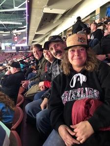 Audrey attended Utah Grizzlies vs. Wichita Thunder - ECHL - Regular Tickets on Jan 5th 2019 via VetTix