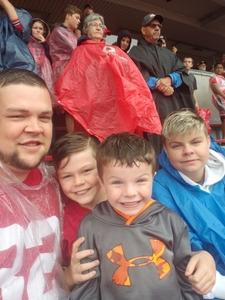 Justin attended Ohio State Buckeyes vs. Rutgers Scarlet Knights - NCAA Football on Sep 8th 2018 via VetTix