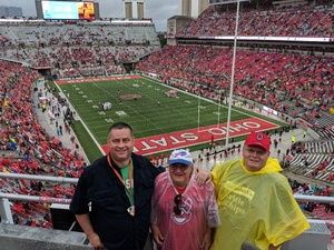 Jerry attended Ohio State Buckeyes vs. Rutgers Scarlet Knights - NCAA Football on Sep 8th 2018 via VetTix