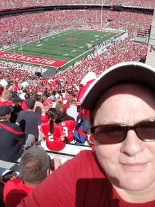 Tracy attended Ohio State Buckeyes vs. Rutgers Scarlet Knights - NCAA Football on Sep 8th 2018 via VetTix