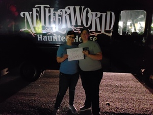 Anna attended Netherworld Haunted House - Good for Specific Days Only - Please Read Below on Oct 7th 2018 via VetTix