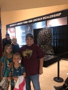 A Garza attended Game of Thrones Live Concert Experience on Sep 12th 2018 via VetTix
