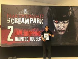 Kristi attended Fear Overload Scream Park - Sept 28 or Sept 29 Only on Sep 28th 2018 via VetTix
