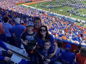 Shaun attended Florida Gators vs. Idaho Vandals - NCAA Football on Nov 17th 2018 via VetTix