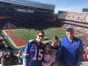 William attended Florida Gators vs. Idaho Vandals - NCAA Football on Nov 17th 2018 via VetTix