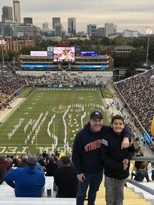 Shaun attended Georgia Tech vs. Virginia - NCAA Football on Nov 17th 2018 via VetTix