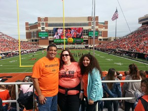 George attended Oklahoma State University Cowboys vs Iowa State - NCAA Football on Oct 6th 2018 via VetTix