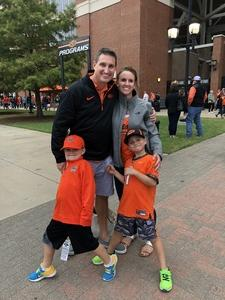 Anthony attended Oklahoma State University Cowboys vs Iowa State - NCAA Football on Oct 6th 2018 via VetTix