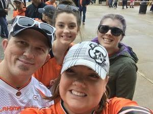 Dylan attended Oklahoma State University Cowboys vs Iowa State - NCAA Football on Oct 6th 2018 via VetTix
