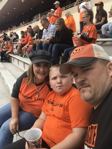 Ricky attended Oklahoma State University Cowboys vs Iowa State - NCAA Football on Oct 6th 2018 via VetTix