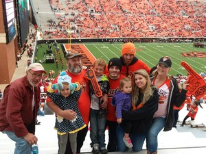 Patricia attended Oklahoma State University Cowboys vs Iowa State - NCAA Football on Oct 6th 2018 via VetTix