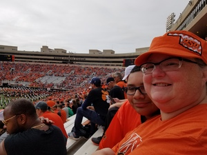 Lance attended Oklahoma State University Cowboys vs Iowa State - NCAA Football on Oct 6th 2018 via VetTix