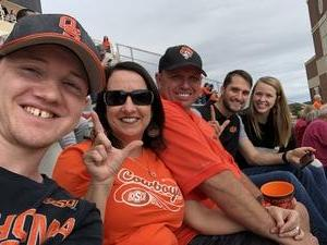 Loren attended Oklahoma State University Cowboys vs Iowa State - NCAA Football on Oct 6th 2018 via VetTix