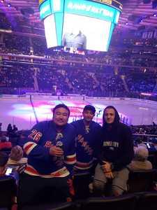 Tika attended New York Rangers vs. New Jersey Devils - NHL on Sep 24th 2018 via VetTix