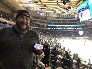 Nathan attended New York Rangers vs. New Jersey Devils - NHL on Sep 24th 2018 via VetTix