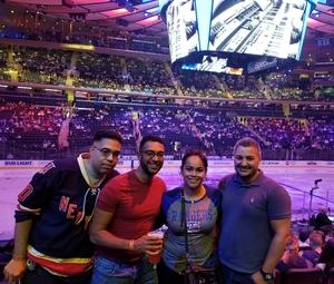 Antoinette attended New York Rangers vs. New Jersey Devils - NHL on Sep 24th 2018 via VetTix