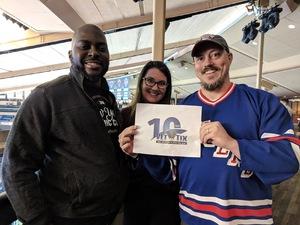Dennis attended New York Rangers vs. New Jersey Devils - NHL on Sep 24th 2018 via VetTix