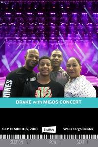 Nakia attended Drake & Migos Aubrey &the 3 Migos Tour on Sep 16th 2018 via VetTix