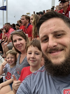 Salvador attended NC State Wolfpack vs. Boston College - NCAA Football - Time Tba on Oct 6th 2018 via VetTix