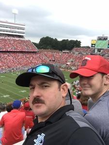 John attended NC State Wolfpack vs. Boston College - NCAA Football - Time Tba on Oct 6th 2018 via VetTix