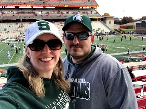 Sara attended Maryland Terrapins vs. Michigan State Spartans - NCAA Football - Time Tba on Nov 3rd 2018 via VetTix