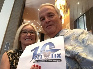 Larry attended The Phoenix Symphony Presents- Sinatra and Friends on Sep 23rd 2018 via VetTix