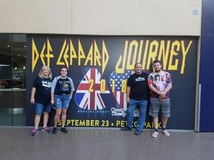 Don attended Live Nation Presents Def Leppard / Journey - Pop on Sep 23rd 2018 via VetTix