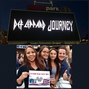 Maria V attended Live Nation Presents Def Leppard / Journey - Pop on Sep 23rd 2018 via VetTix